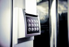 Keypad for security access control.
