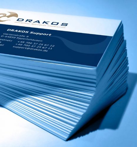 Visitenkarten drucken mit JaniCard | Drakos GmbH